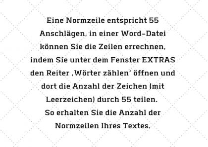 Definition eine Normzeile in der Übersetzung